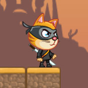 Игра Для мальчиков 5 лет: Ниндзя кот