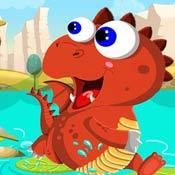Игра Для мальчиков 5 лет: Прыжки динозавра