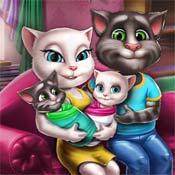 Игра Анжела и Том нянчат двойняшек