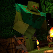 Игра Майнкрафт выживание: Спастись от зомби