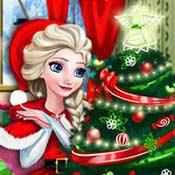 Игра Новогодняя одевалка Эльзы