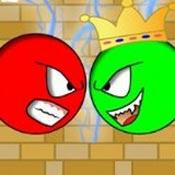 Игра Красный шар против зеленого короля