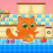 Игра Котик Бубу на кухне