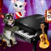 Игра Говорящий Том и пианино