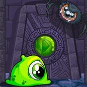 Игра Приключение зеленого монстра