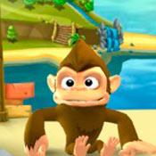 Игра Бродилки для девочек: Забавная обезьянка