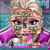 скрин игры Эльза у косметолога