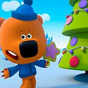 скрин игры Ми-ми-мишки: Новый год в лесу