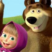 скрин игры Открытка Маши и Медведя