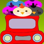 скрин игры Цыплята в машине
