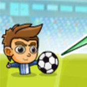скрин игры Футбол головами: Попади в ворота