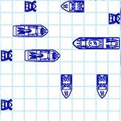 скрин игры Корабли в тетрадке на 2 игрока