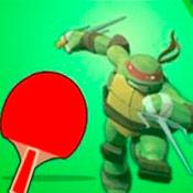 скрин игры Настольный теннис с черепашками