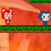 скрин игры Огонь и вода: Кот и кошка