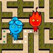 скрин игры Огонь и Вода в лабиринте