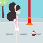 скрин игры Девушка с пирожными
