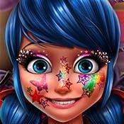 скрин игры Леди Баг: Блестящий макияж