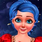 скрин игры Маринетт: Прически на Хеллоуин