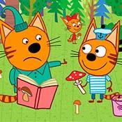 скрин игры Три кота собирают грибы