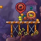 скрин игры Зомботрон: Сокровища инопланетян
