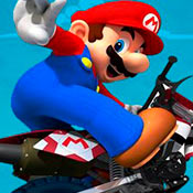 скрин игры Марио: Гонка на мотоцикле