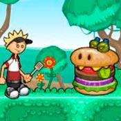скрин игры Папа Луи: Атака гамбургеров