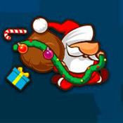 скрин игры Санта бежит по городу