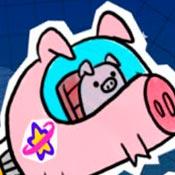 скрин игры Гравити фолз: Свинка в космосе