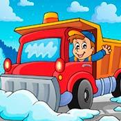 скрин игры Грузовики: Уборка снега