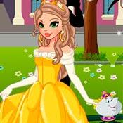 скрин игры Одевалка: Повтори образ принцесс