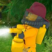 скрин игры Лего сити: Пожар в лесу