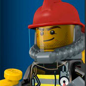 скрин игры Пожарный из Лего сити