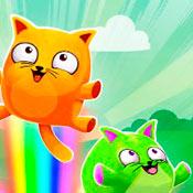 скрин игры Тетрис с кошками