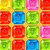 скрин игры Соединяем кристаллы