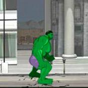 скрин игры Халк разрушает город