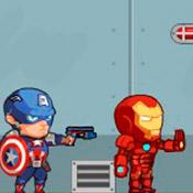 скрин игры Железный человек и Капитан Америка