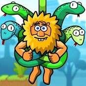 Скрин игры Адам и Ева: Перережь веревку