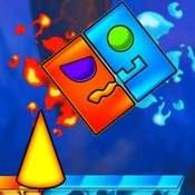 Скрин игры Огонь и вода Геометрии дэш