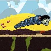 Скрин игры Еда для зомби червячка