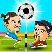 Скрин игры Футбольные головы на волейболе