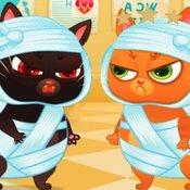 Скрин игры Котик Бубу в больнице
