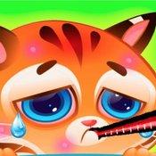 Скрин игры Ухаживаем за котенком Бубу