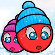 Скрин игры Красный шар: Рождество