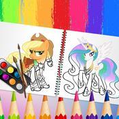 Скрин игры Пони креатор раскраска