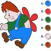 Скрин игры Раскраска по номерам для детей